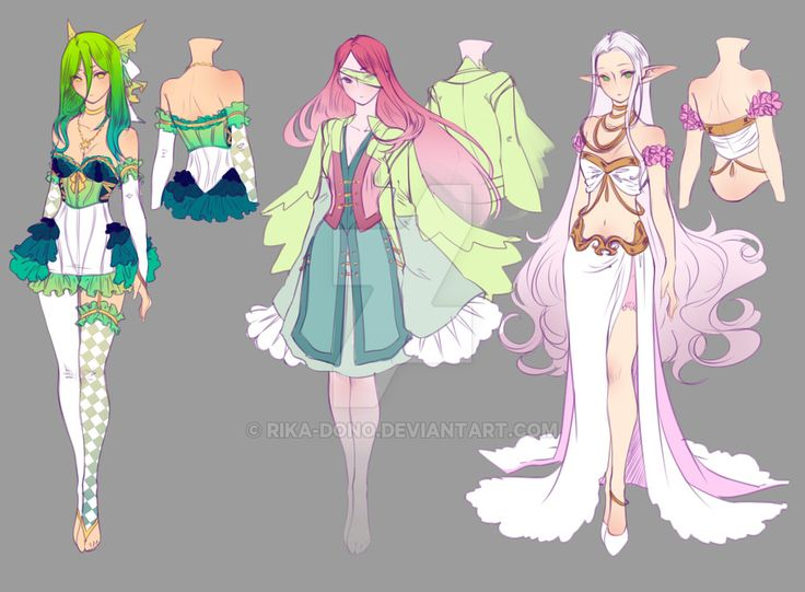 Anime Character Design Contest : Drawing contest st place prize designs by rika