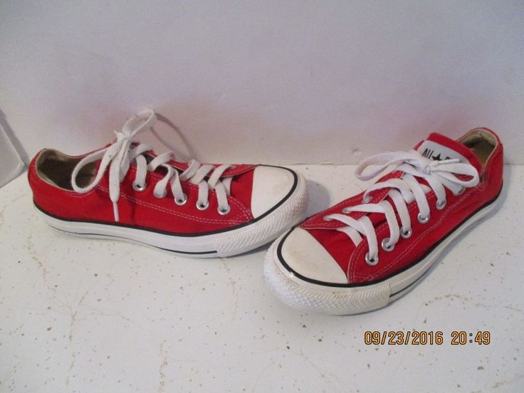 CONVERSE All-Star Low red Chuck Taylor Men's 5 Women's 7 shoes j64 #Converse #Skateboarding
