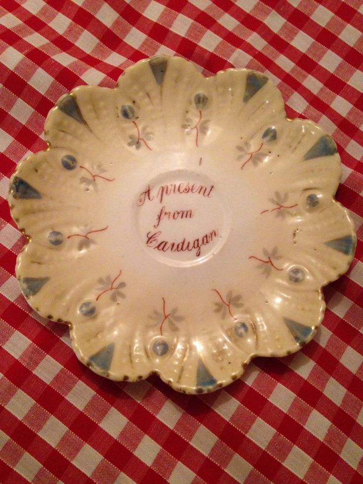 A present from Cardigan Wales souvenir plate  by JoBachsLittleGems on Etsy