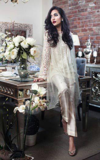 latest pakistani wedding party wear short frock trends 2017