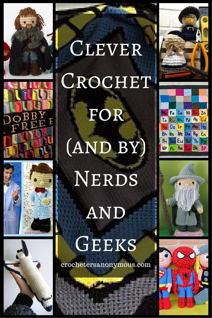 Do you love socks as much as Dobby? Do happy neurons fire at the thought of a handmade Periodic Table of the Elements? Enjoy these extraordinary examples of great crochet and knit projects (and some crochet patterns!) for (and by) nerds and geeks