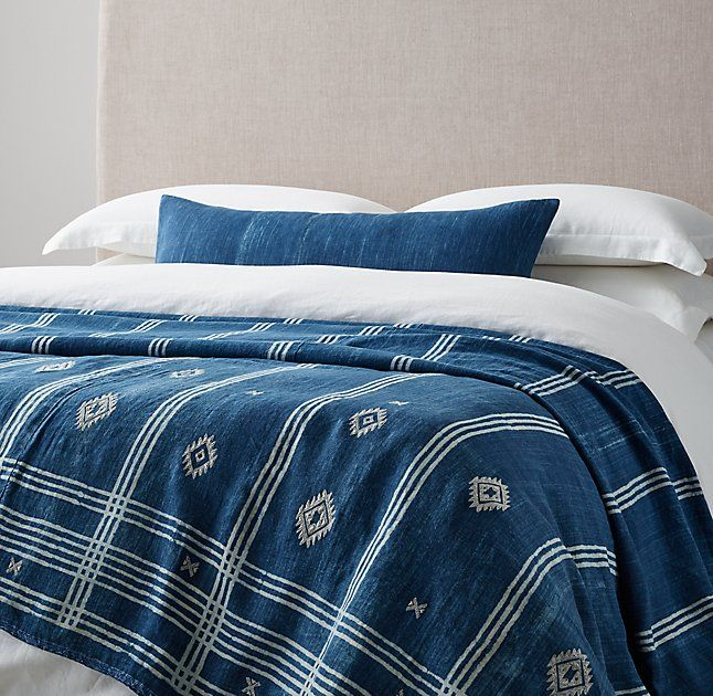 Handcrafted Tribal Linen Oversized Bed Throw