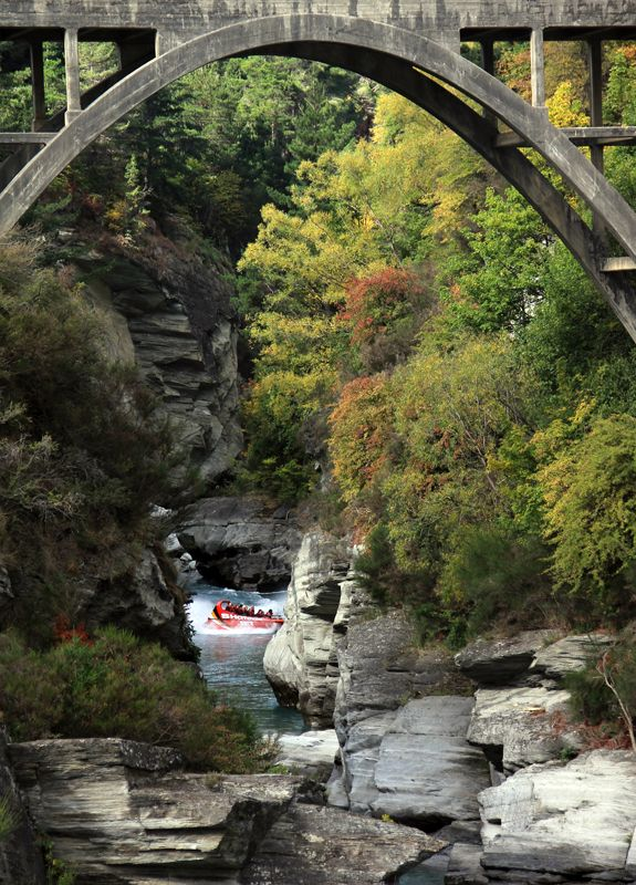 Shotover River, near Queenstown, New Zealand. Fabulous high speed boat ride and absolutely loved Queenstown!