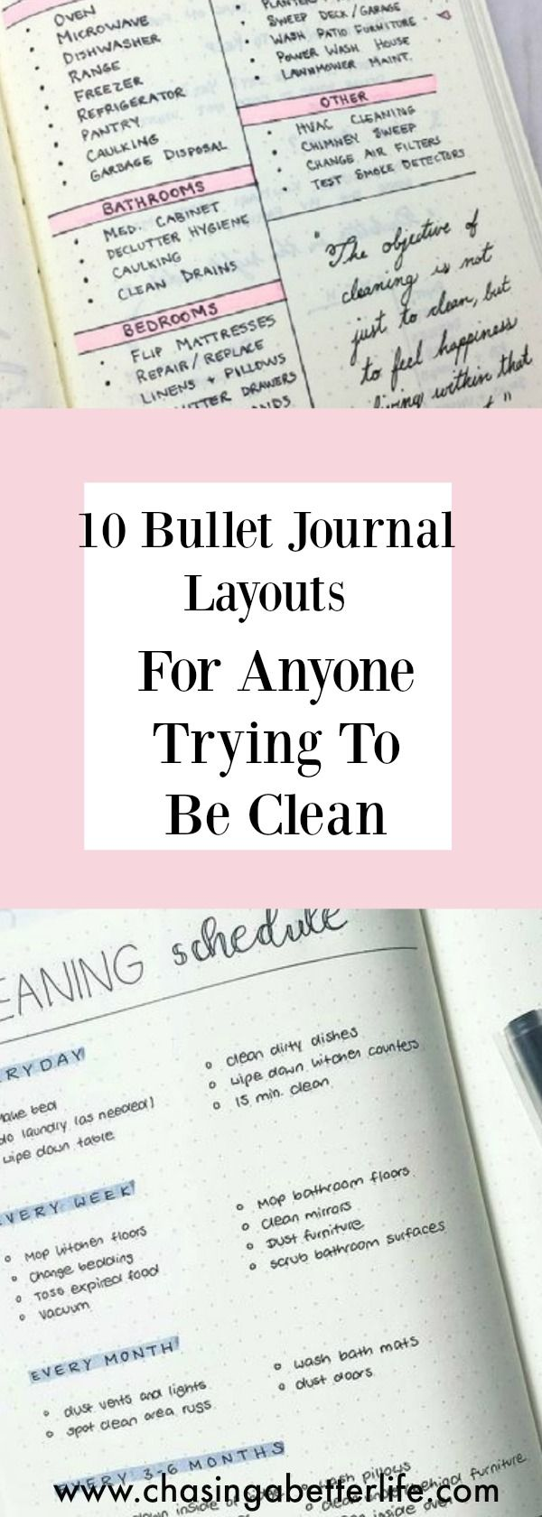 10 Bullet Journal Layouts For Anyone Trying To Be Clean#bujo #clean