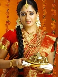 Kerala Bridal collection - Latest Indian Gold and Diamond Jewellery Designs: South Indian actresses in beautiful wedding jewellery