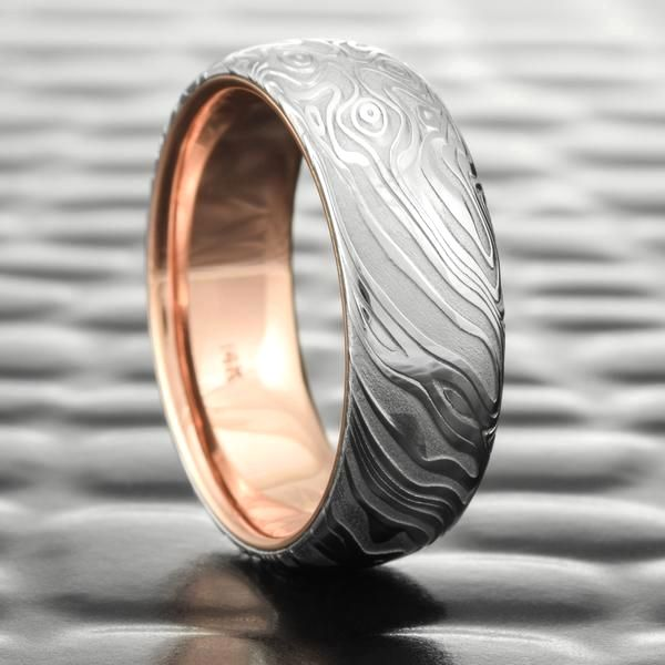 Damascus Material Wedding Band Pros And Cons In 2020 Damascus Steel Wedding Band Mens Wedding Rings Damascus Steel Ring