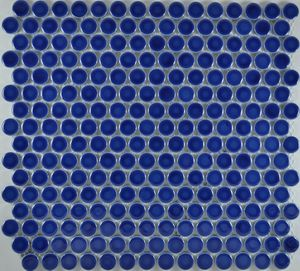 Product ID:MCP127 3/4X3/4 Penny Rnd Dk Blue Glossy #Profiletile