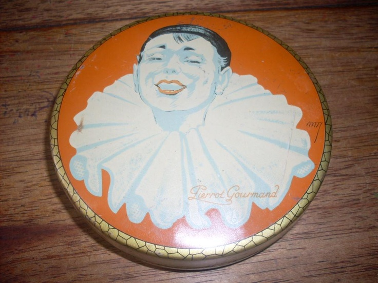 VINTAGE PIERROT GOURMAND PARIS TIN | eBay