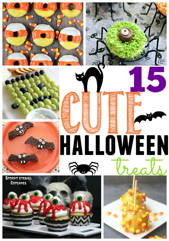 15 Cute Halloween Treats at GingerSnapCrafts.com #Halloween #treats