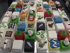 The birthday cakes for Prince Charles 64th birthday bash (Source: ONE News)
