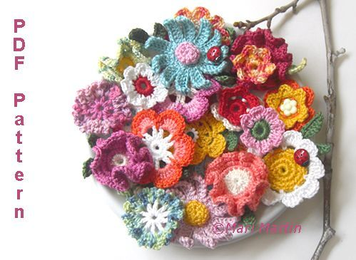 207 besten hæklede blomster små planter Bilder auf Pinterest ...
