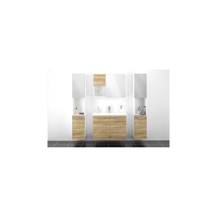 Stilren River skabs- og vask kombination til badeværelset