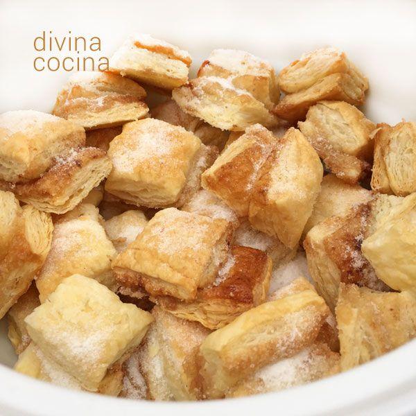 Pellizcos de hojaldre dulces - Divina Cocina