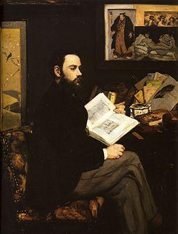 Mane Edouard, Ritratto di Emile Zola, 1868, olio su tela, Parigi, Musèe d'Orsay