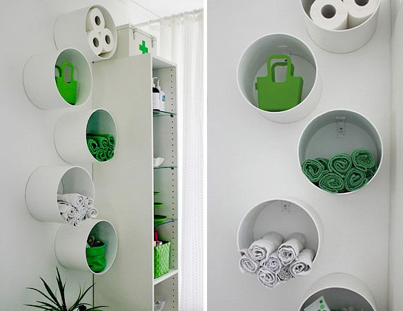 concrete forms in the home improvement store as modern shelving