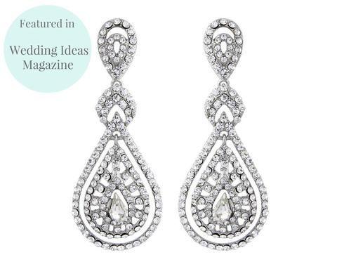 Wedding Earrings - Romantic Style Chandelier Earrings, Savoy