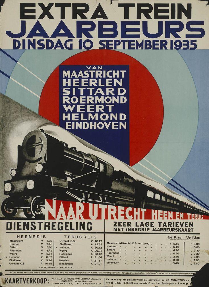 Extra trein Jaarbeurs Dinsdag 10 september 1935 Van…