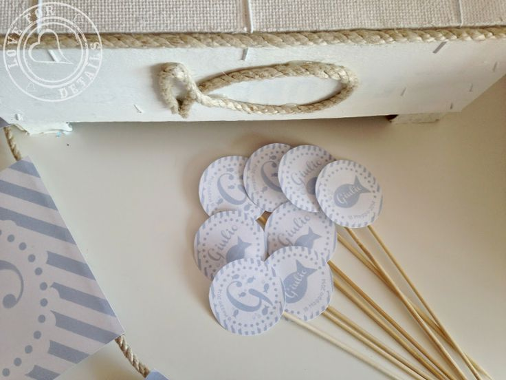 topper per BATTESIMO IN SPIAGGIA - BAPTISM ON THE BEACHby Love4Details