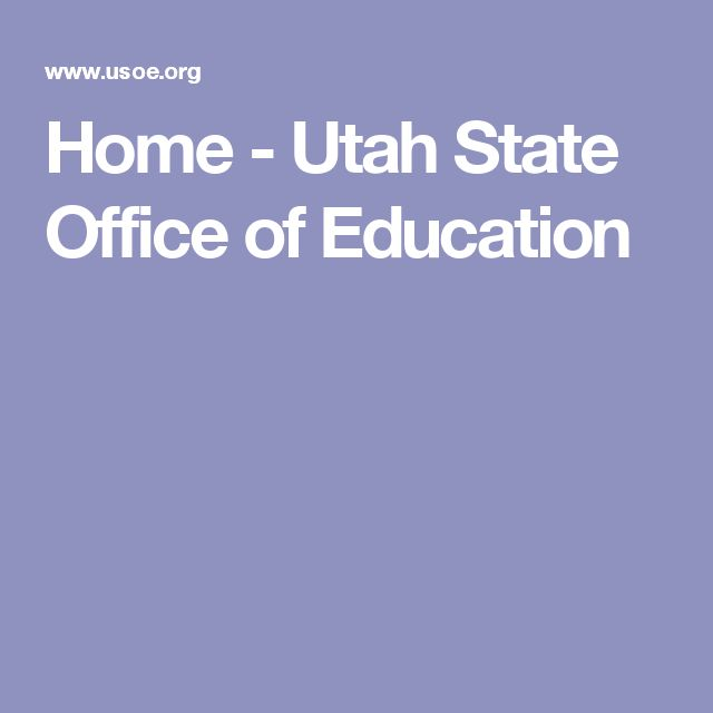 Home - Utah State Office of Education
