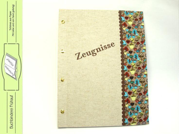 Weiteres - Zeugnismappe Sammelmappe für Zeugnisse - ein Designerstück von BuchbindereiFruehauf bei DaWanda