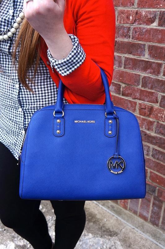 f68864194143 royal blue michael kors handbags selma medium väska - Marwood ...