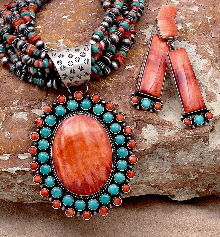 Native american jewelry...beautiful, is it coral?