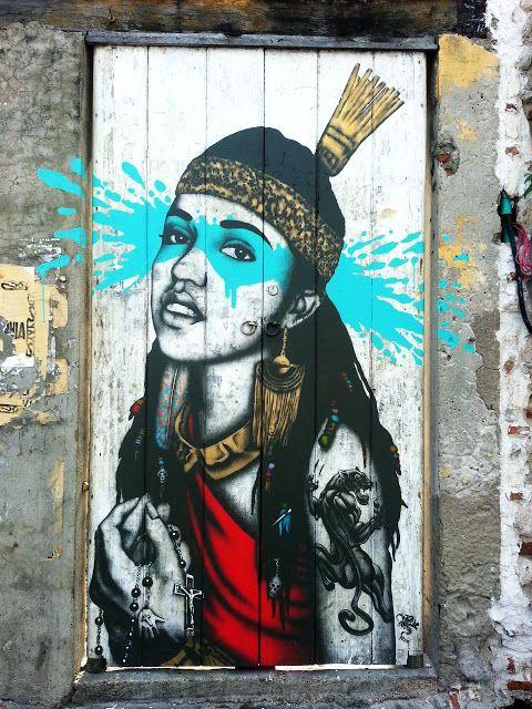: Fin DAC New Mural In Cartagena // Colombia #street art #graffiti