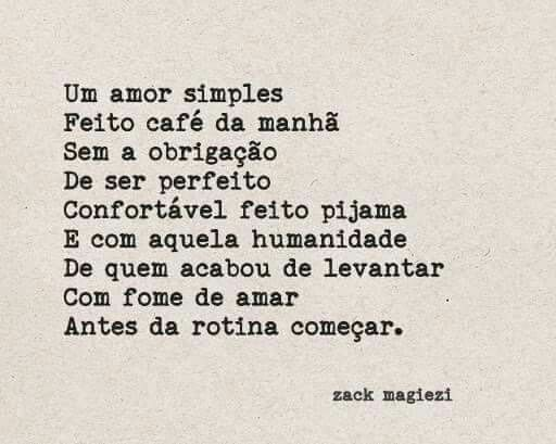 Amor simples. Zack Magiezi