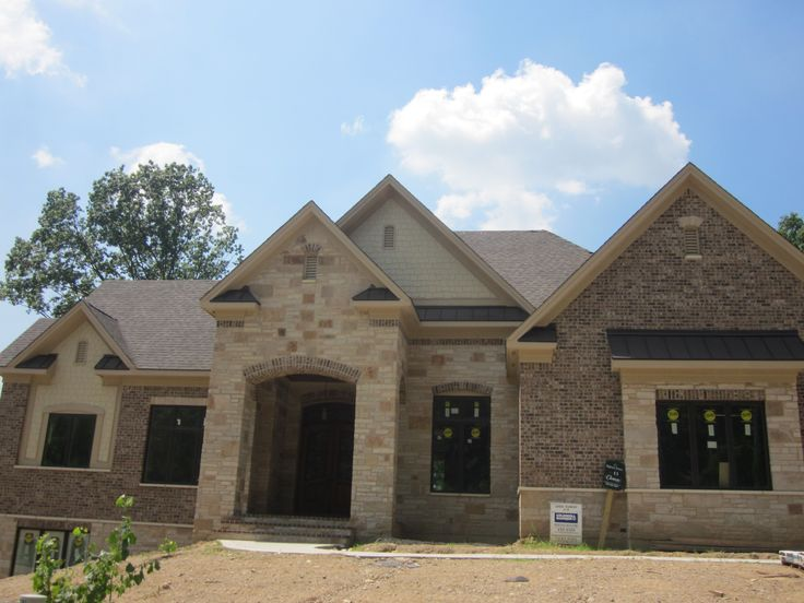 images of brick homes another gorgeous ranch by clemens this striking stone and brick - Luxury Homes Exterior Brick