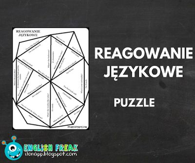 English Freak: REAGOWANIE JĘZYKOWE - PUZZLE (PRINTABLE)
