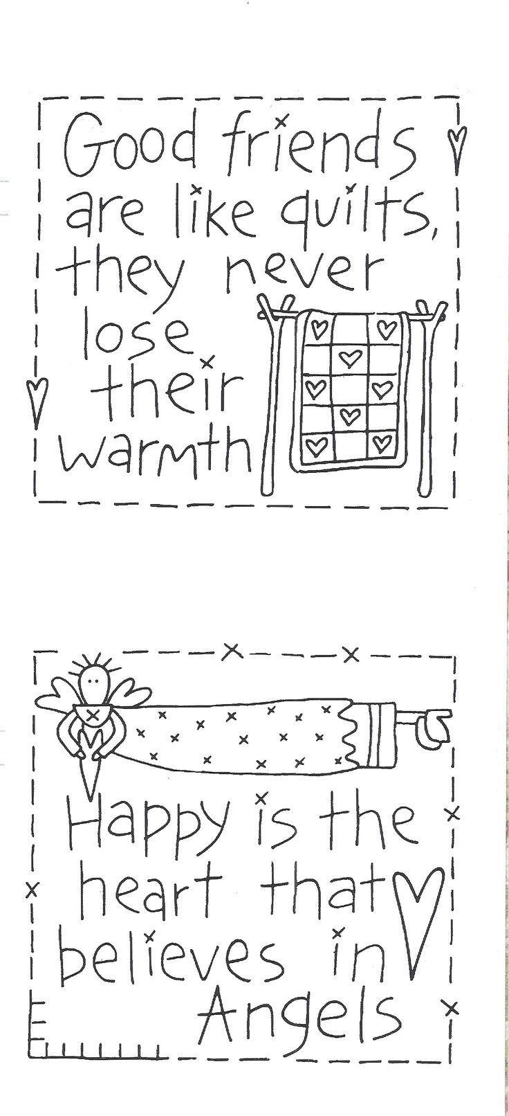 Cute quilt labels