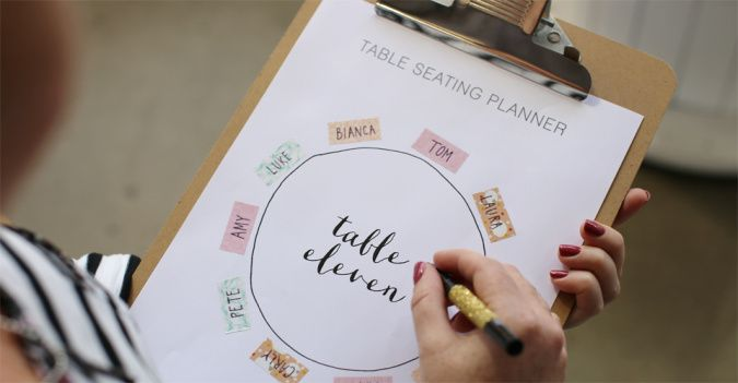 Free Printables : Making Seating Plans Pretty!