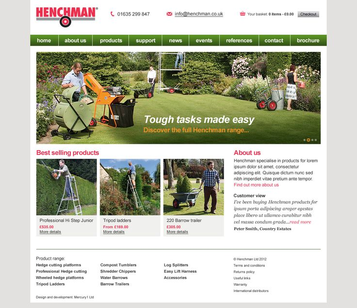 What exactly is Hayden doing...? - A new homepage and product template page for henchman.co.uk