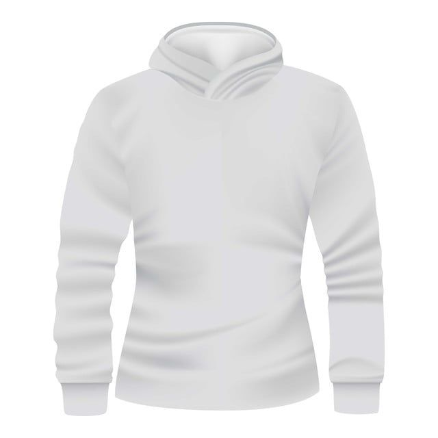 White Hoodie Front View Mockup Realistic Style Style Icons View Icons White Icons Png And Vector With Transparent Background For Free Download Masculino