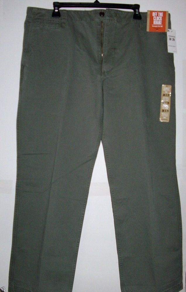 MEN`S DOCKERS KHAKIS CHINOS PANT COLOR: OLIVE GREEN SIZES: 38X29 NWT GOLF SALE #DOCKERS #KhakisChinos