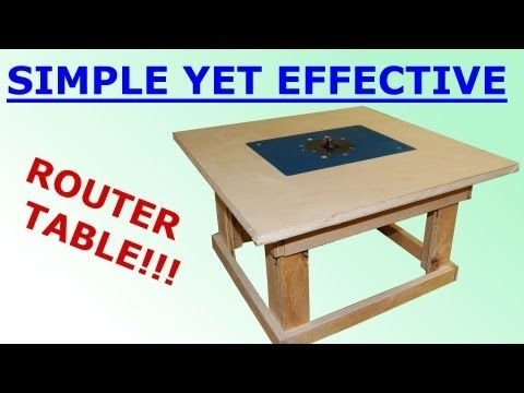 Woodworking - Simple Mobile Router Table