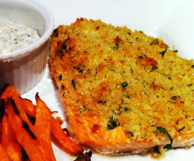 Everyday Gourmet: Panko Crusted Rainbow Trout with Caper-Dijon Aioli