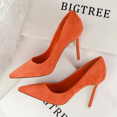 High Heels Suede Basic Women's Singles Shoes Fashion Women Pumps Dress Shoes Work Shoes