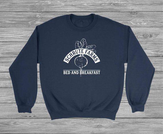 45fe9641 Schrute Farms Sweatshirt, Dunder Mifflin shirt, The Office, The Office  Sweater, Dwight Schrute, Michael Scott, The Office Shirt