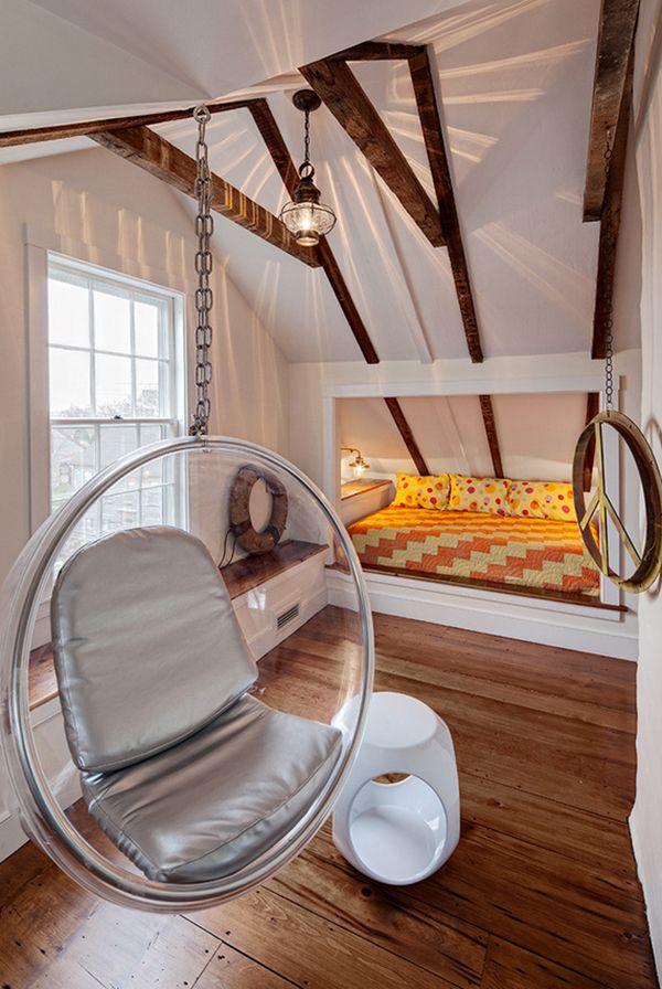 Schlafzimmer mit Dachschräge gemütlich gestalten Wohnen