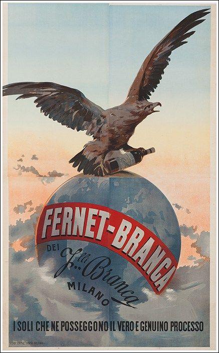 Fernet Branca  manifesto #vintage #original #poster  www.posterimage.it