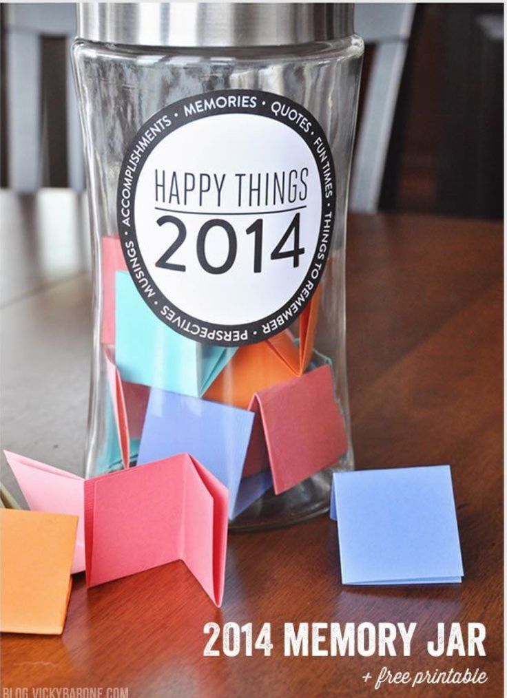 Cute DIY Memory Jar But You Can Do It For Every Year.
