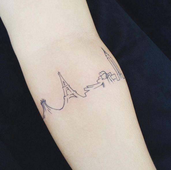 La tour Eiffel di Parigi, il Guggenheim Museum e l'Empire State Building di New York -cosmopolitan.it