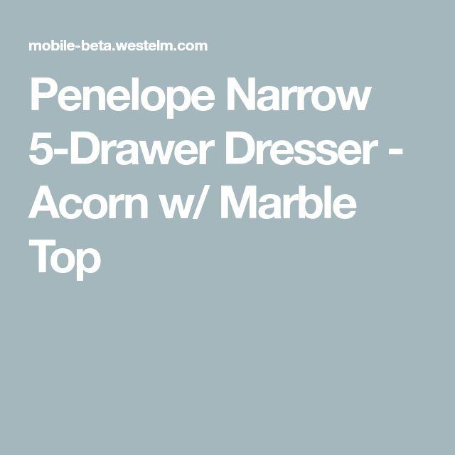 Best Penelope Narrow 5 Drawer Dresser Acorn W Marble Top 5 400 x 300