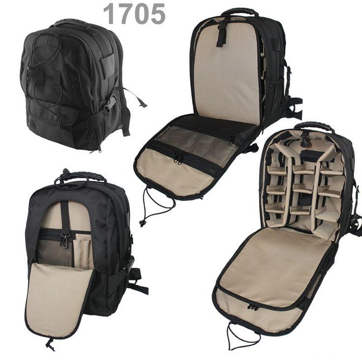"""Tas Kamera EIBAG 1705  Adalah tas kamera dan laptop model backpack produk dari EIBAG.  Kapasitas : 1 -2 kamera dslr, 3-4 lensa tambahan / flash, laptop maksimal 12"""", aksesoris kamera. Tripod holder pada bagian depan.   Penjualan sudah termasuk free raincover  Pemesanan bisa SMS 0812 2033 9093"""
