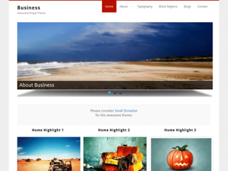 Business is a gorgeous free Drupal theme for business or portfolio. It isn't dependent on any core theme. At the same time, its very light weight with modern look and feel