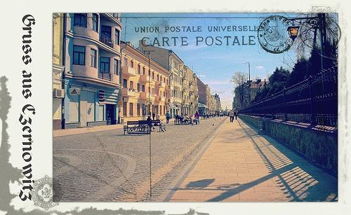 Greetings from Chernivtsi II (Postcard Imitated)