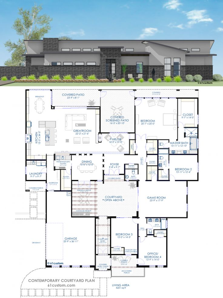 145 best ideas about floor plans on pinterest bedroom for Courtyard home designs adelaide