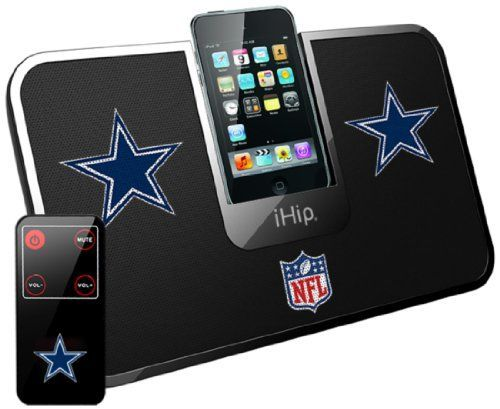 iHip Official NFL - DALLAS COWBOYS - Portable iDock Stereo Speaker with Wireless Remote NFV5000DAL