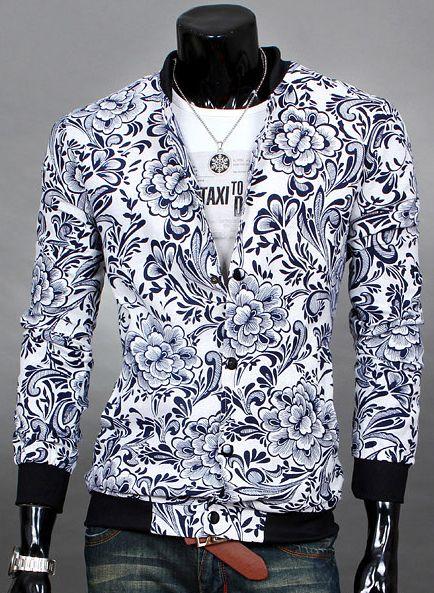 Delfblauw floral jacket